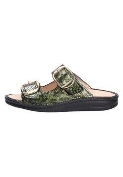 Finn Comfort - Pantolette flach - grün