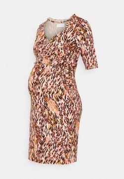 MAMALICIOUS - NURSING DRESS - Jerseykleid - shell pink/green