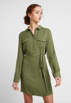 Cotton On - TAMMY LONG SLEEVE DRESS - Vestido camisero - khaki
