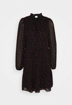 Vila - VIPLISSEAMESY DRESS - Korte jurk - black