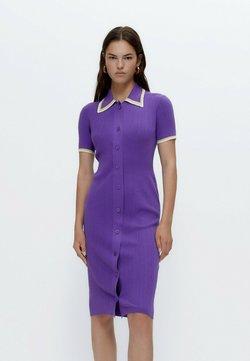 Uterqüe - STRICK MIT POLO-KRAGEN - Strikkjoler - purple