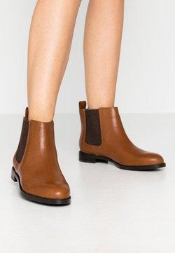 Lauren Ralph Lauren - SIGNATURE HAANA - Boots à talons - deep saddle tan