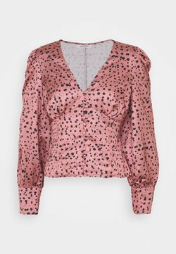 Glamorous - LONG SLEEVE PRINTED BLOUSE WITH NECK - Bluse - rose multi