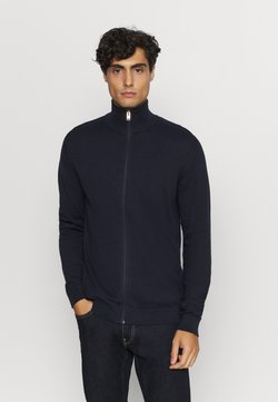 Selected Homme - SLHBERG FULL ZIP CARDIGAN - Gilet - navy blazer