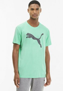Puma - HEATHER CAT  - T-Shirt print - green glimmer heather