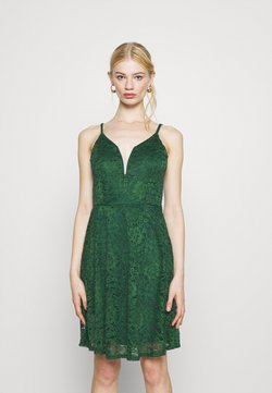 WAL G. - CAMRYN STRAPPY SKATER DRESS - Day dress - forest green