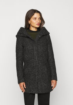 ONLY Petite - ONLSEDONA COAT - Abrigo corto - black/melange