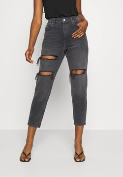 Topshop Petite - MOM - Jeans Relaxed Fit - washed black