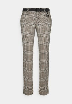 TOM TAILOR DENIM - STRUCTURED STRAIGHT  - Chinot - brown/beige