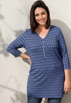MIAMODA - Langarmshirt - jeansblau schwarz