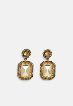 Pieces - PCMADISON EARRINGS - Earrings - gold-coloured/brown
