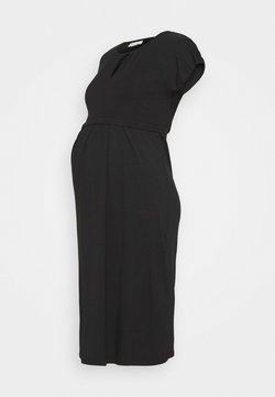 JoJo Maman Bébé - KEYHOLE PLEATED MATERNITY AND NURSING DRESS - Trikoomekko - black