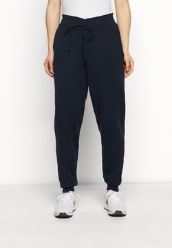 Glamorous Petite - CUFFED JOGGERS WITH FRONT TIE DETAIL - Pantalones deportivos - dark navy