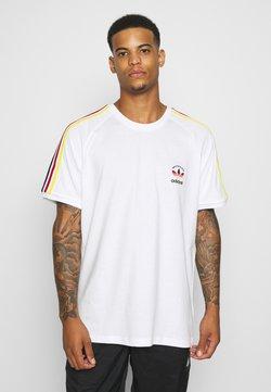adidas Originals - STRIPES SPORTS INSPIRED SHORT SLEEVE TEE UNISEX - T-shirt con stampa - white