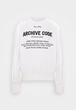 Marc O'Polo - OVERSIZED, LONG SLEEVE, HIGH NECK, PLACED PRINT - Sweatshirt - off white
