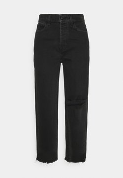 7 for all mankind - DYLAN FEARLESS DISTRESSED - Jeansy Straight Leg - black