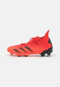 adidas Performance - PREDATOR FREAK .3 FG - Botas de fútbol con tacos - red/core black/solar red