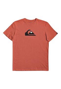 Quiksilver - COMP LOGO - T-shirt print - chili