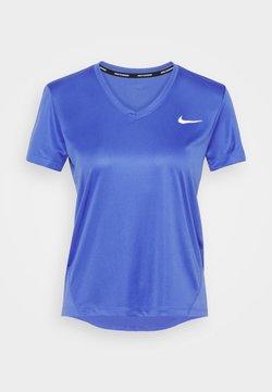 Nike Performance - MILER V NECK - T-shirt imprimé - sapphire/reflective silver