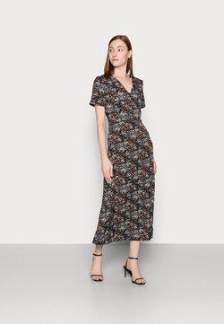 Missguided Tall - HALF BUTTON DRESS DITSY - Freizeitkleid - black