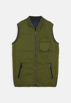 Scotch & Soda - LIGHTWEIGHT REVERSIBLE PADDED BODYWARMER - Smanicato - military green