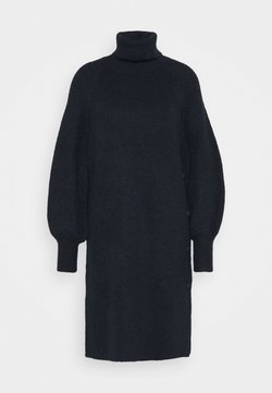 YAS - YASALLU ROLL NECK DRESS - Stickad klänning - sky captain