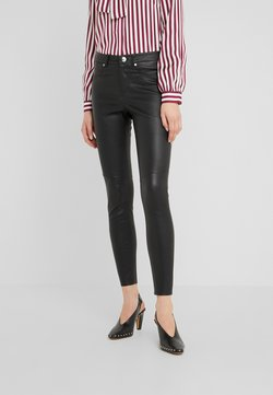 RIANI - Leather trousers - black