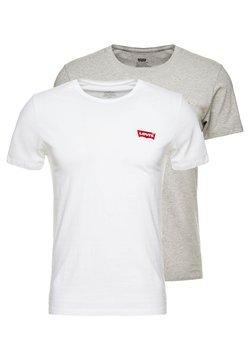 Levi's® - CREWNECK GRAPHIC 2 PACK - T-Shirt basic - white/mid tone grey heather