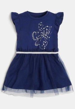 Guess - NETZEINSATZ - Jerseykleid - blau