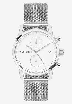 Carlheim - NICHOLAS  - Rannekello ajanottotoiminnolla - silver/white