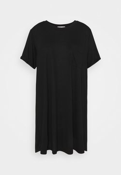 Cotton On Curve - RELAXED TEE DRESS - Vestido ligero - black
