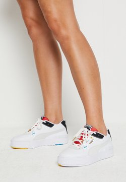 Puma - CALI SPORT - Baskets basses - white/black/high risk red