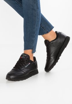 Reebok Classic - CLASSIC LEATHER CUSHIONING MIDSOLE SHOES - Sneakers laag - black