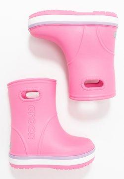 Crocs - CROCBAND RAIN BOOT - Kumisaappaat - pink lemonade/lavender