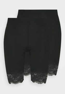 Gina Tricot - BASIC BIKER LACE 2 PACK - Shortsit - black