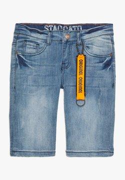 Staccato - BERMUDAS DESTROYED TEENAGER - Jeansshort - light blue denim