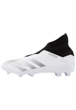 adidas Performance - FOOTBALL BOOTS FIRM GROUND - Fußballschuh Nocken - footwear white/silver metallic/core black