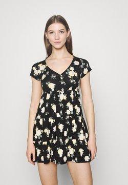 Hollister Co. - SHORT DRESS - Jerseykleid - black