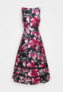 Adrianna Papell - PRINT MIKADO DRESS - Robe de soirée - black/pink