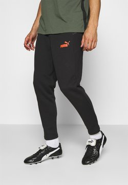 Puma - CASUALS PANT - Jogginghose - black/fizzy orange