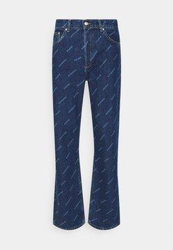 sandro - DIAGONAL  - Jeans Bootcut - blue vintage denim