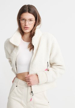 Superdry - ORANGE LABEL - Fleece jacket - cream