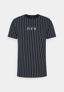 Nerve - SAMIR STRIPE TEE - T-Shirt print - navy