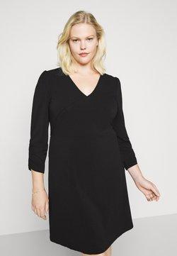 Vero Moda Curve - VMALBERTA VNECK DRESS - Jerseykleid - black