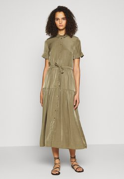 Object Tall - OBJNIBIA SHIRT DRESS  - Maxi-jurk - burnt olive