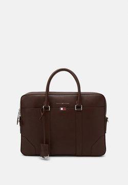 Tommy Hilfiger - BUSINESS SLIM BAG UNISEX - Aktentasche - brown