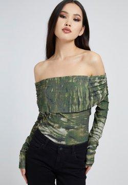 Guess - Langarmshirt - mehrfarbig grün