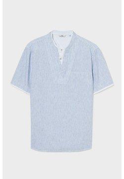 C&A - T-Shirt print - blue / creme