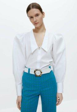 Uterqüe - MIT ZIERFALTEN - Koszula - white