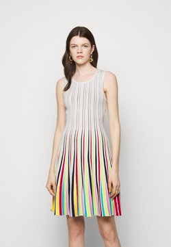 Milly - GODET STRIPE FIT AND FLARE - Cocktail dress / Party dress - white multi